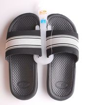 NEW C9 YOUTH CUSHION LITE BLACK/WHITE SLIP ON SANDALS SIZE L 4/5 image 5