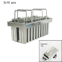 DIY 2x10pcs Stainless Steel Ice Lolly Mold 85ml for ice cream making - $80.13