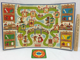 1964 Mother Hubbard Board Game Spinner Card Childrens Mr Fun Cadaco  - £9.32 GBP