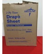 """Medline Disposable 2-ply Drape Sheet - 40"""" Width X 48"""" Length - Tissue 100p - $28.05"""