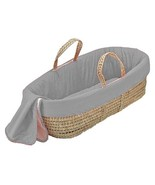 bkb Solid Color Moses Basket, Grey - $169.76