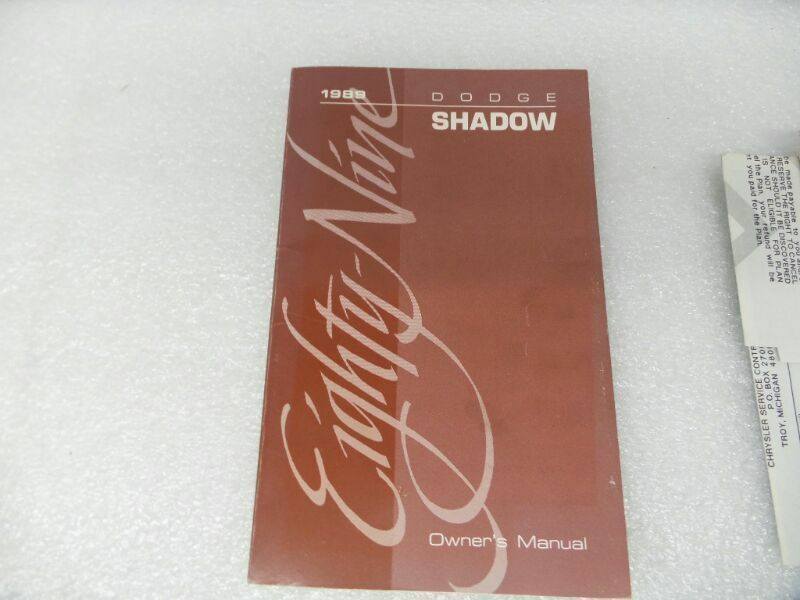 SHADOW    1989 Owners Manual 16603