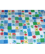 Abstract Flowers Print Mulitcolor Red, Green, Teal and Yellow 100% Cotto... - $3.99