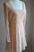 ASOS Pale Pink Lace Empire Waist Dress Size 6 Lined - $49.49