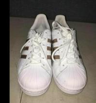 Adidas White w/Gold Stripes - $34.65