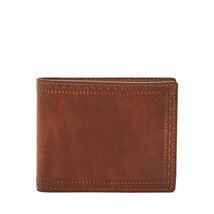 67a8d00d1f34 fossil man genuine Leather Ansel Flip ID Bifold -  24.00