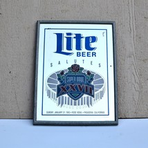 Lite Beer Mirror Super Bowl XXVII 1993 Rose Bowl Pasadena California Wal... - $34.25