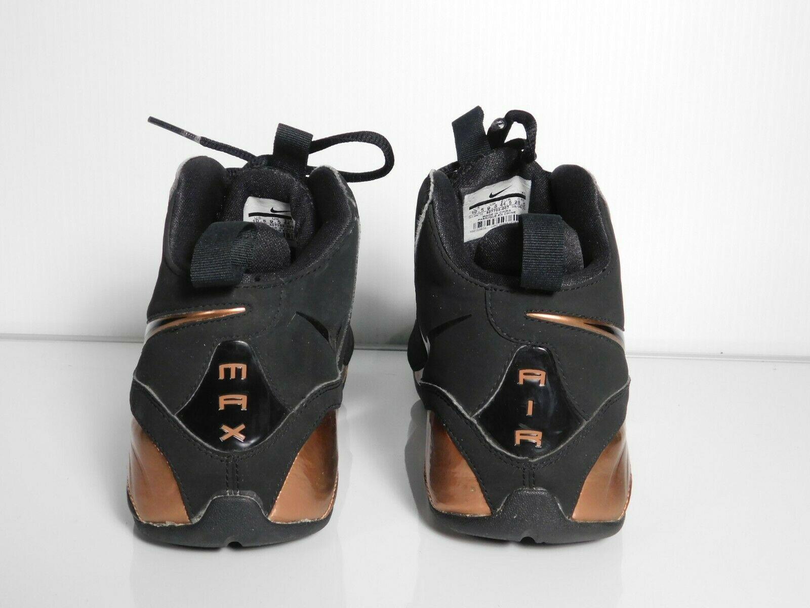 Nike Air Max Wavy Mens Basketball Shoes University Training Brown black Sz 10.5