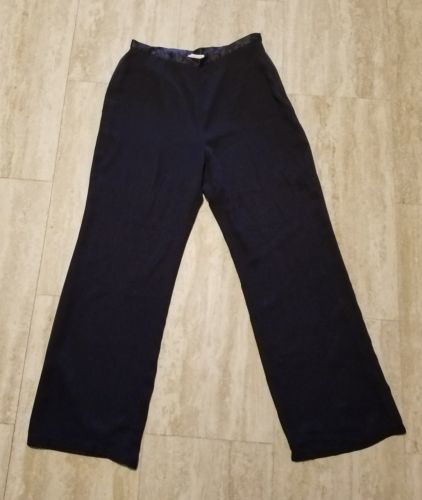 Women's Liz Claiborne Dress Pants ~ Sz 12 ~ Dark Blue ~ Lined ~ Polyester