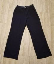 Women's Liz Claiborne Dress Pants ~ Sz 12 ~ Dark Blue ~ Lined ~ Polyester - $16.82