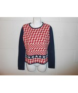 Vintage Women's Tommy Hilfiger Tommy Girl Colorblock Fitted Sweater L - $14.99