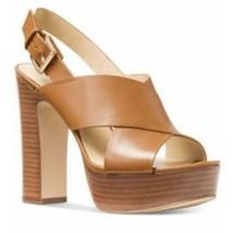 Michael Kors Mariana Slingback  Color Acorn Vachetta Leather Size 7 Floo... - $78.38