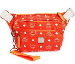 MCM Small Resnick Visetos Sling Bag Nylon Belt Bag ~NWT~ Flame - $420.75