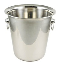 Winco WB-4 4 Quart Wine Bucket,stainless steel,Set of 3 - $39.04