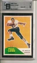 1960 Fleer #76 Paul Lowe RC Rookie GAI 8 - $281.30