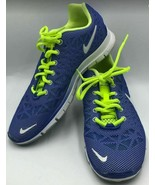 Nike Free 5.0 Women's Running Athletic Shoes Blue Neon Green TR Fit 3 Br... - $34.98
