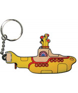 The Beatles Yellow Submarine Movie Submarine Image Rubber Keychain NEW U... - $10.69