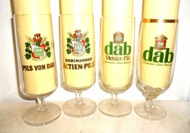 4 DAB Aktienbrauerei Dortmund German Beer Glasses - $19.95