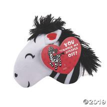 Valentine Stuffed Zebras with Card - $27.50