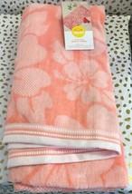 XL Hibiscus Beach Towel Coral - Sun Squad image 2