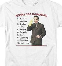 Monks Top 10 Phobias t-shirt detective drama comedy series graphic tee NBC353 image 3