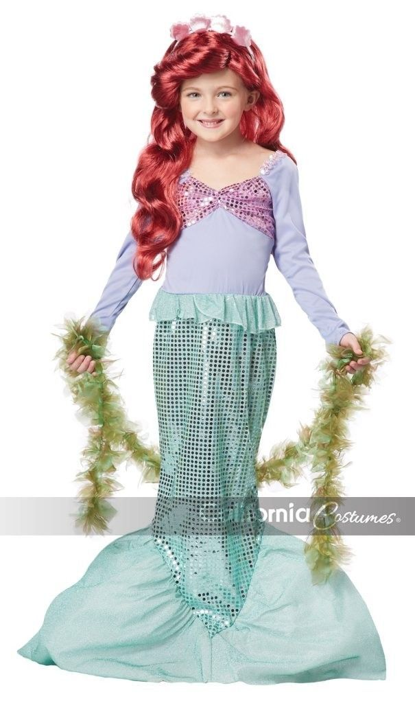 Primary image for NEW Little Mermaid Child Halloween Costume, Ariel, by California Costumes, M