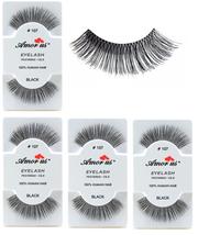 6 Pairs AmorUs 100% Human Hair False Long Eyelashes # 107 compare Red Ch... - $8.90