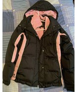 ZeroXposur Down Ski Black Parka Jacket Coat Womens Sz S/P Hood $179 Pink... - $27.12