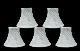 "Urbanest Swirl Pleated Chandelier Lamp Shades Bell,3""x6""x5"" Off White,set of 5 - $51.47"