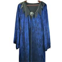 Spider Web Cloak Womens Vampire Witch Blue Black Sparkly Halloween - $14.99