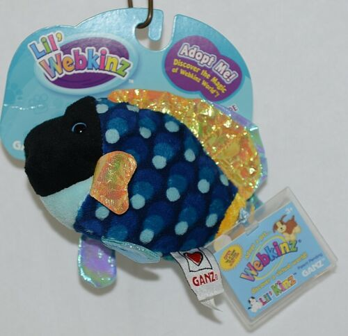 GANZ Brand Lil Webkinz Collection HS526 PolkaDot Blue And Gold Triggerfish Plush