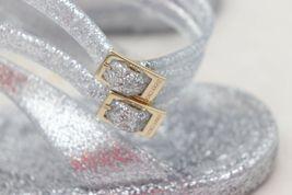 NIB Jimmy Choo Lance Silver Metallic Glitter Rubber Jelly Sandals 7 37 New image 8