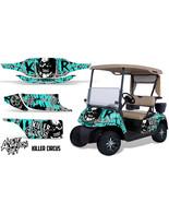 EZ GO Golf Cart Wrap Graphics Vinyl Sticker Decal Kit EZGO 1996-2010 CIR... - $207.87