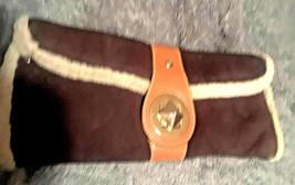 Vintage Kate Spade Brown Suede & Sherpa Clutch Handbag Amazing - $200.00