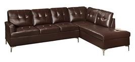 "Homelegance Barrington 109"" X 108"" Pu Leather Chaise Sofa, Brown - $1,762.19"