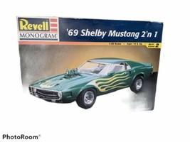 Revell Monogram 1969 Shelby Mustang 2 N 1 Model - $14.50
