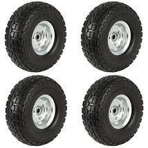 Yaheetech Solid Wheelbarrow Tires Sack Truck Cart Wheel 5/8-inch Bearing... - $83.98 CAD