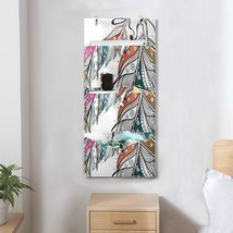 Closet Storage Hanging Organizer Boho Style Ornamental Feathers Hanging ... - $29.99