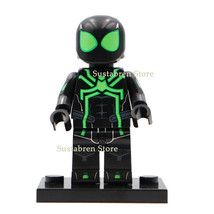 Green & Black Spiderman (Spider-man Suit) Marvel Lego Minifigures Toy Gi... - $1.99
