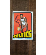 1972-73 Topps Signé Carte Tom Satch Sanders Boston Celtics Nyu Harvard H... - $39.93