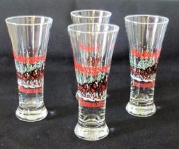 BUDWEISER Clydesdales Pilsner Beer Libbey Glass Flute in Winter 1989 Set... - $20.00
