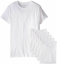 6-Pack Fruit Of The Loom Mens Stay Tucked Crew T-Shirt Medium White 100%... - $27.09 CAD