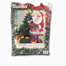BUCILLA Plastic Canvas Santa's Gift Doorstop Christmas Needlepoint NIP - $24.74