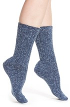 HUE Tweed Ribbed Boot Socks Denim Blue - $3.91