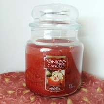 Yankee Candle APPLE PUMPKIN 14.5 oz Jar with Lid  burn time 65 - 75 hrs NEW - $17.45