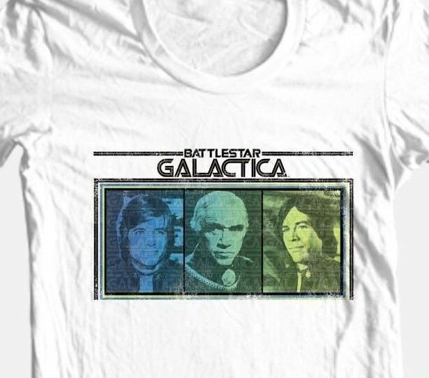 Battlestar Galactica T-shirt Originial TV series 1970's 80's cotton graphic tee