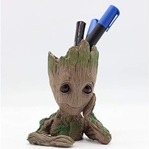 Baby Groot Pen Holder, Flowerpot Perfect for Tiny Succulent Plants, Indo... - $19.38 CAD
