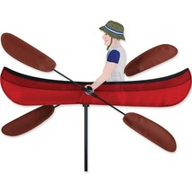 """Canoe 20"""" Staked Wind Whirl Oars Whirligig with Pole & Ground Mount.14..... - $27.99"""