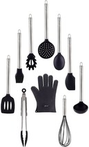 10 Piece Silicone Cooking Utensil Set With Stainless Steel Handles By Chef - $76.30 CAD