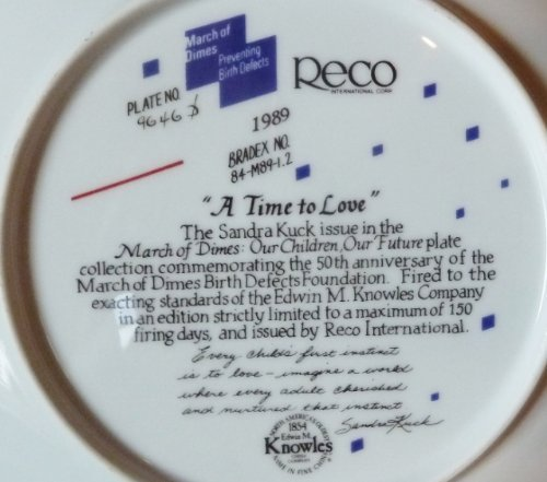 """""""A Time To Love"""" Collector's Plate by Sandra Kuck, from the """"Our Children, Our F"""